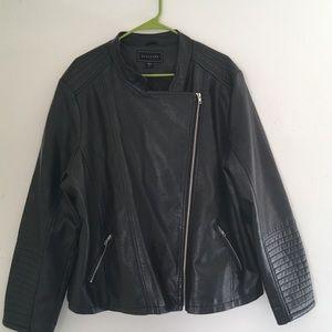 Metaphor Black motto leather jacket size 2X
